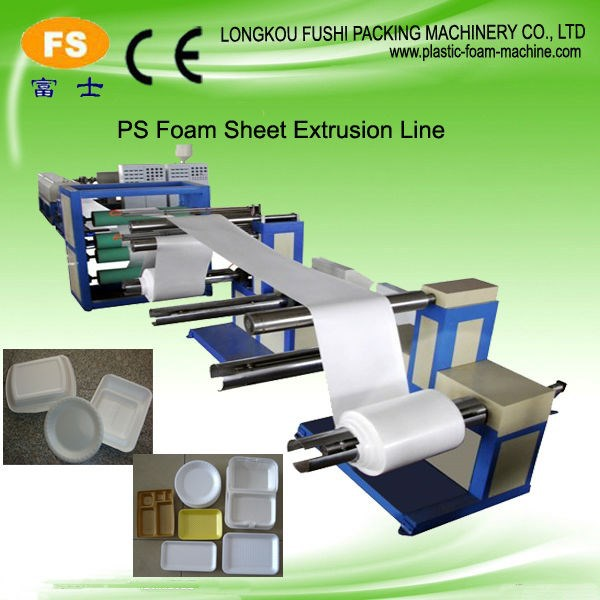 PS Foam Sheet Extrusion Line/fast food box production line/Disposable Price Machinery CE Certificate Complete Production Line