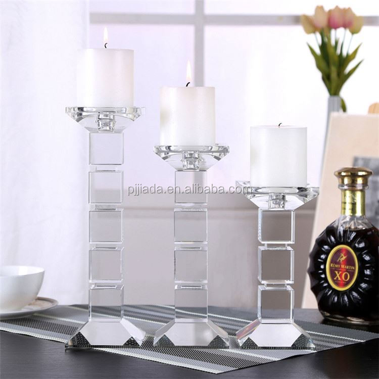 Weeding Decoration Crystal Candle Holder Home Decoration Accessories Modern crystal candle stand