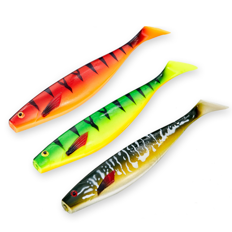 saltwater bass fishing pro shad lure for fishing pike big soft lure, 8 colors