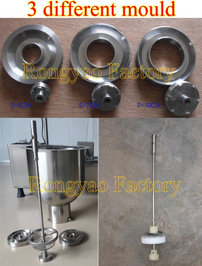 3 Moulds Donut Maker Fryer Machine With Timer Automatic Mini Donut Making Machine WITH FRYING FUNCTION AND TIMING