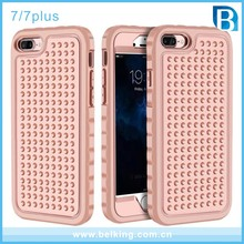 For iPhone 7 Shields Phone Case Shockproof PC Plastic Cover Silicone Phone Case For iPhone 7/For iPhone 7 Plus Plush Shell