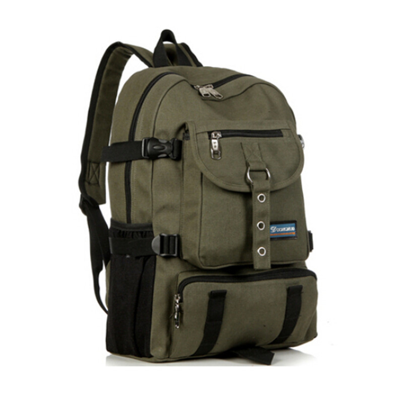 5d3b2b180ba1 MY0591 High Quality men s backpack outdoor sport travel backpack canvas  shouider zipper solid casual designer backpacks for men