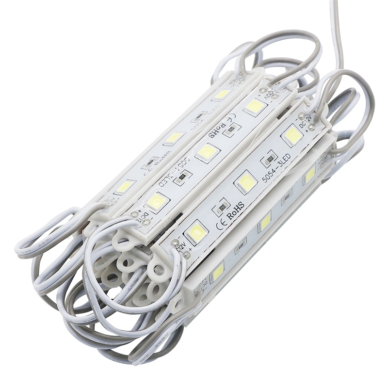 DC12V 3 Led Light Waterproof IP65 SMD 5050 Led Modules Lighting White/ Warm White/ Red/ Blue/ Green/ Yellow Color