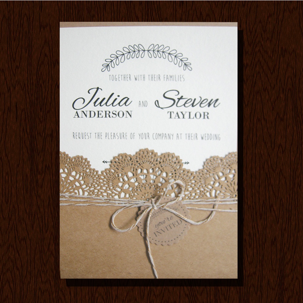 Price For Wedding Invitations: 2017 Newest Laser Cut Wedding Invitation Card Designs With