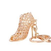 High Heel Shoes Keychain Rhinestone Car Key Rings Women Bag Charms Key Chains