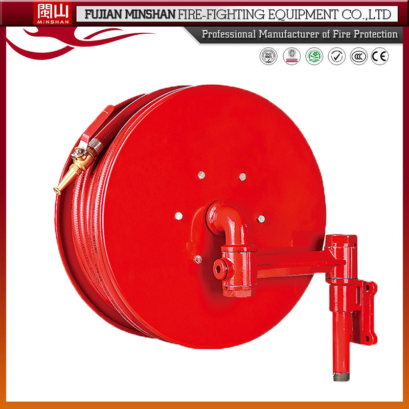High quality fire figting delivery hose reel with rubber pipe