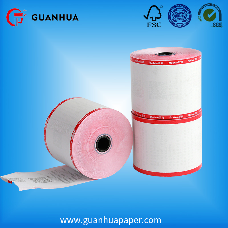 Wholesale high quality 60 mm colour print 2 sides bond thermal paper