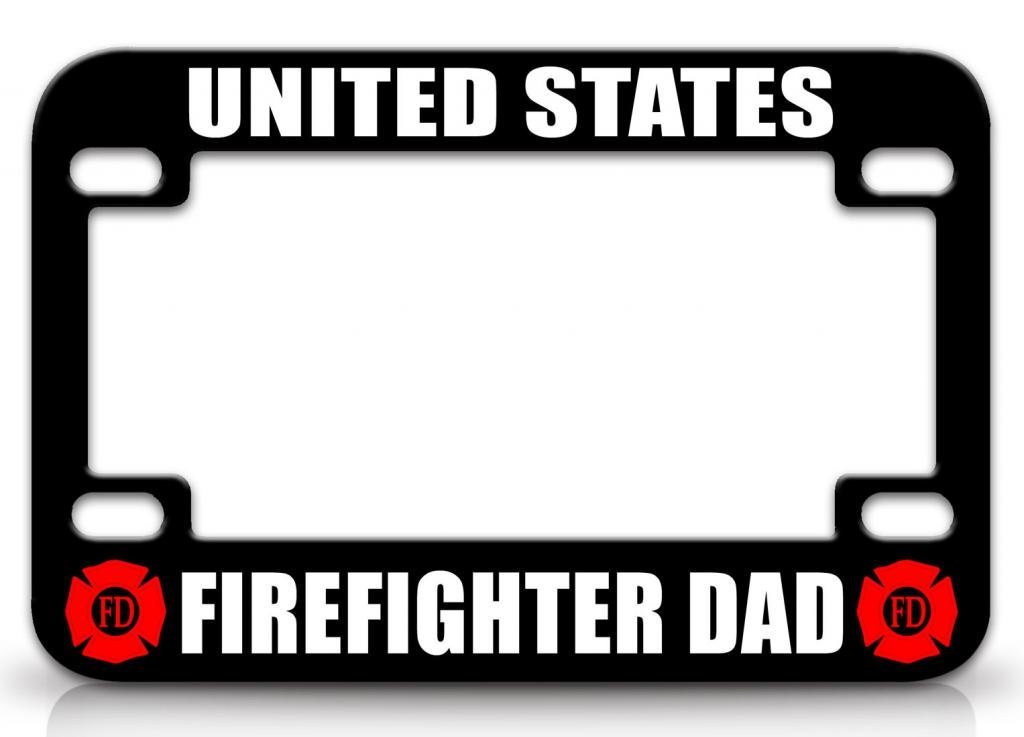 Buy UNITED STATES FIREFIGHTER DAD Firefighter Quality Metal ...