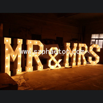 wedding decorative metal vintage led marquee letter lights