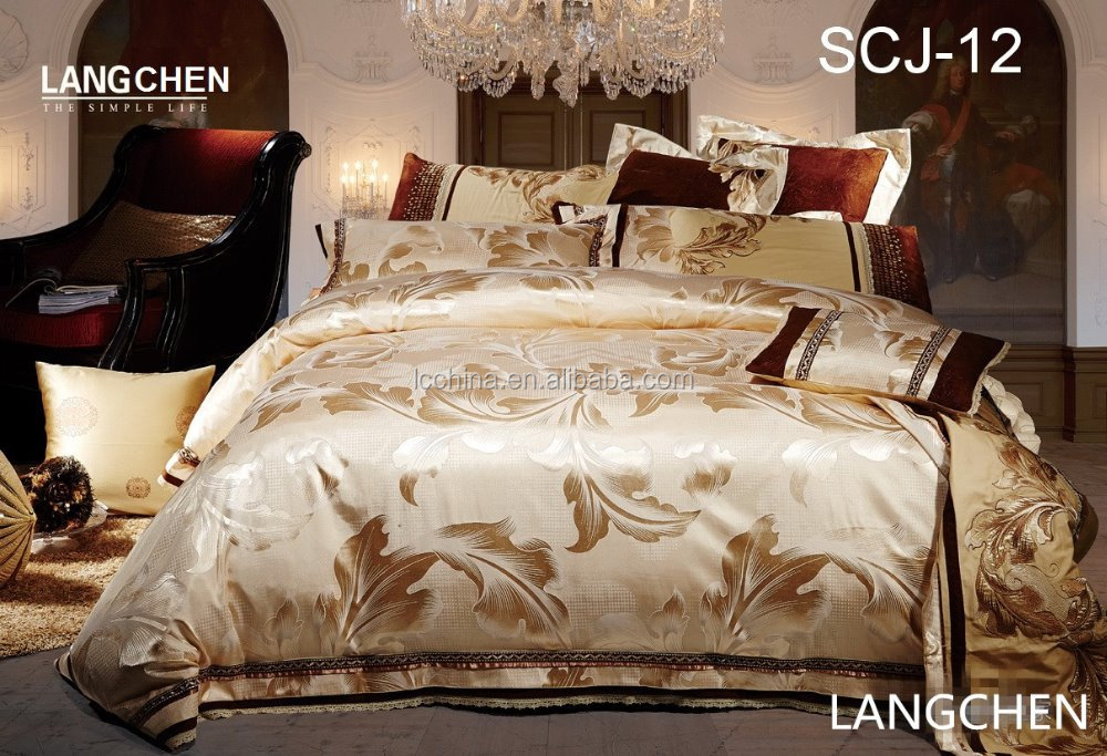 Russian hot sell royal style jacquard luxury duvet cover set