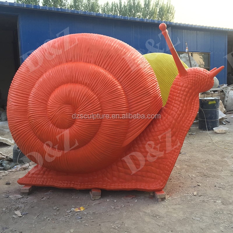 Colorful custom made large garden snail sculptures wholesale