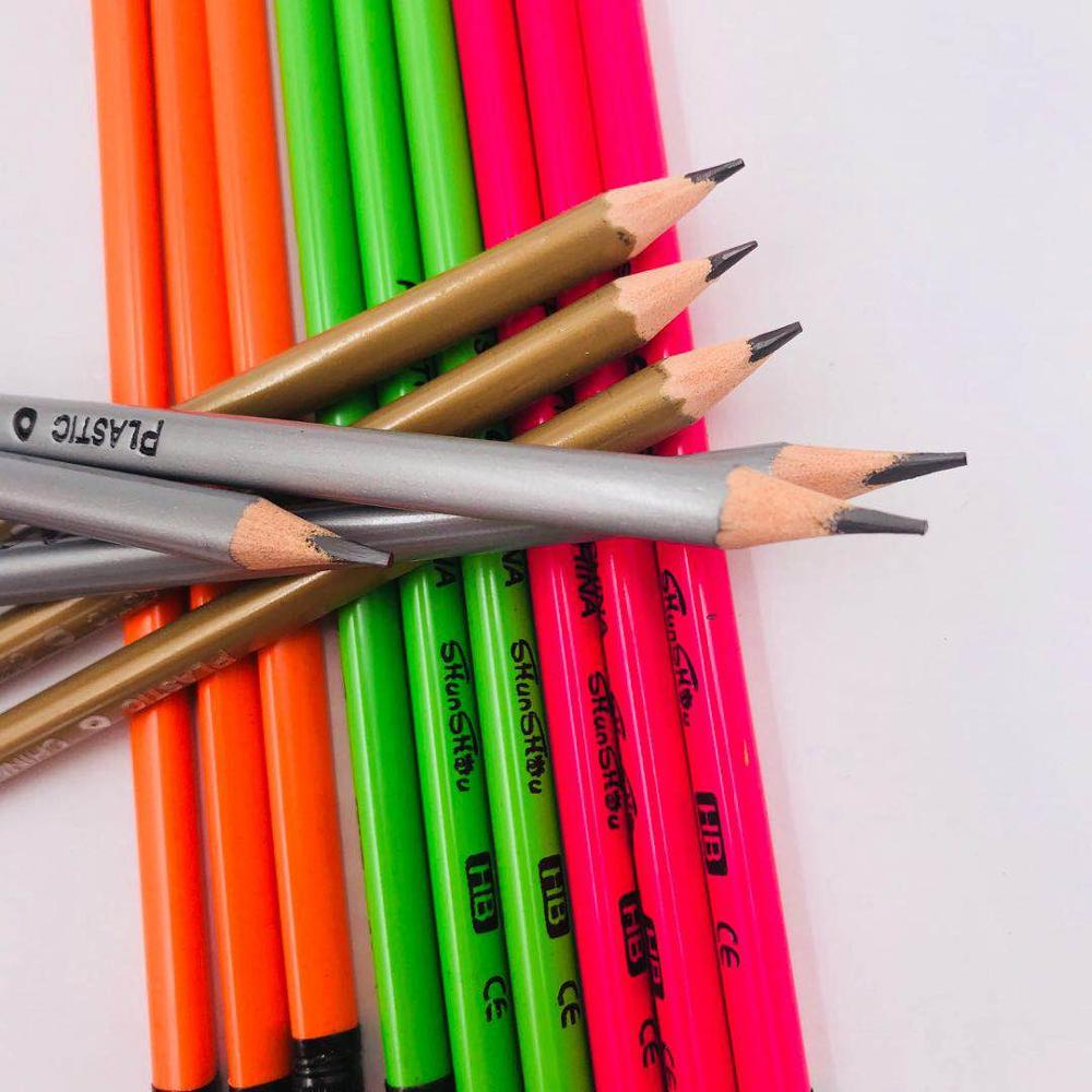 Top quality Customizable Plastic Pencil With Rubber