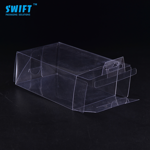 Hot selling custom transparent gift plastic boxes square plastic packaging box clear PET PVC box