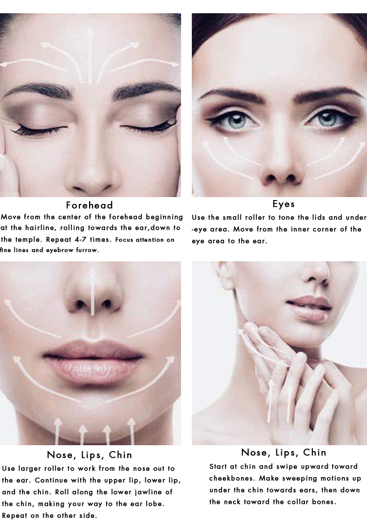 rolo de massagem de obsidiana beleza para aliviar o envelhecimento da pele