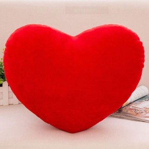 Bestdan factory wholesale colorful,red and different size heart shaped plush toy pillow