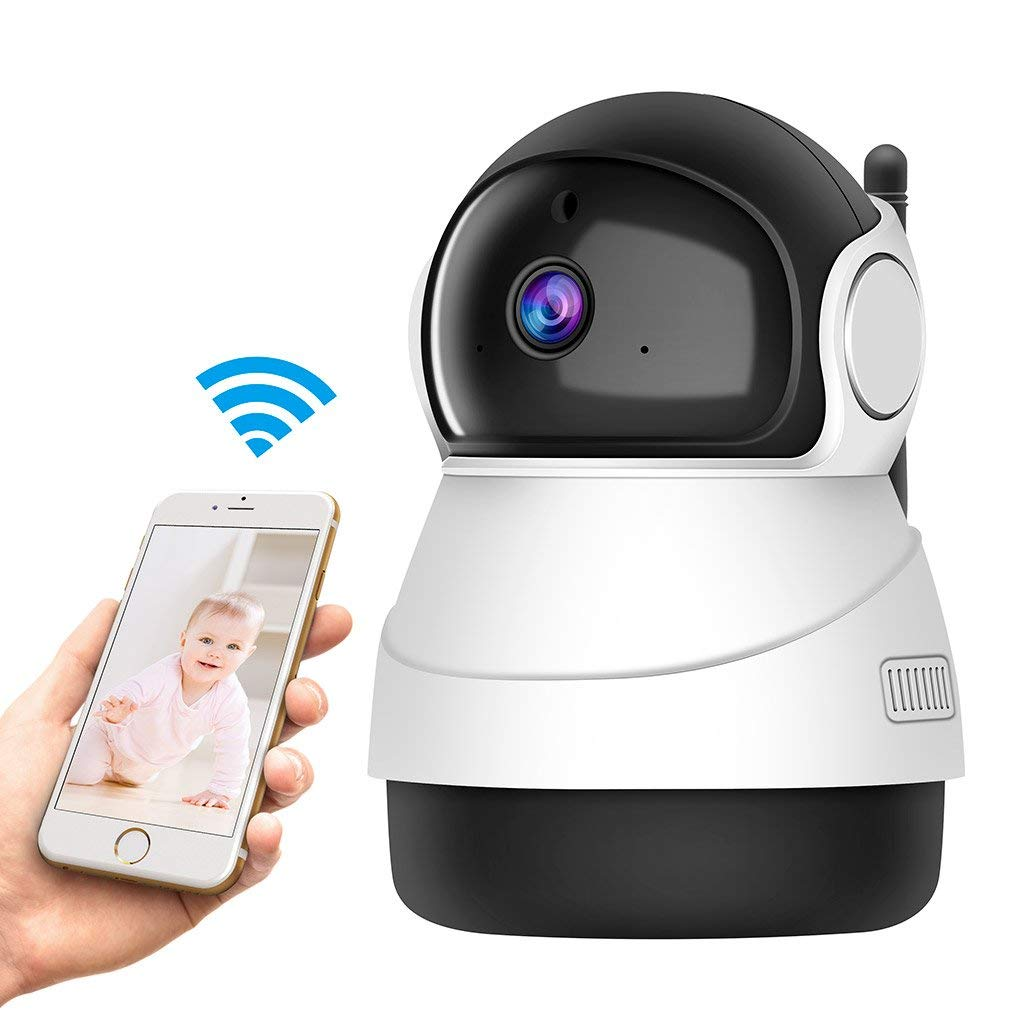 Wireless 1080P IP Camera, GERI wifi security Surveillance Indoor Camera with Night Vision Motion Detection 2-Way Audio Home Security Surveillance Pan/Tilt/Zoom Monitor for Baby/Elder/Pet