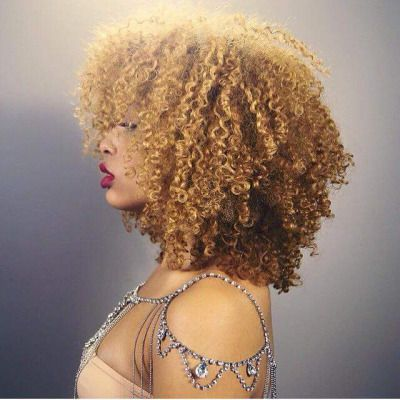 Aisi Hair Synthetic Afro Kinky Curly Wigs Ombre Blonde Short Curly Wigs For Black Women Heat Resistant Fiber