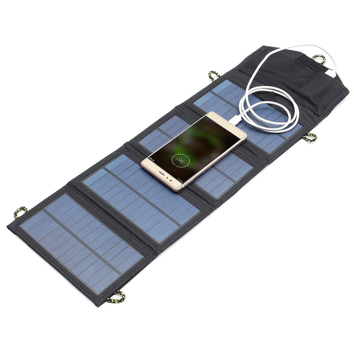 Solar Usb Charger - Solar Panel Usb Charger - 5V 7W Portable Solar Panel Outdoor Travel Emergency Foldable Charger With USB Port (Solar Power Usb Charger)