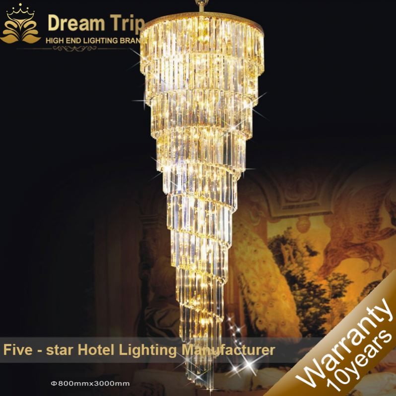 Lights & Lighting Project Large Crystal Chandelier Led Lamparas Sconce Stairway Suspension Lamp Gold Hotel Chandelier E14 Led Lustre Light Fixture