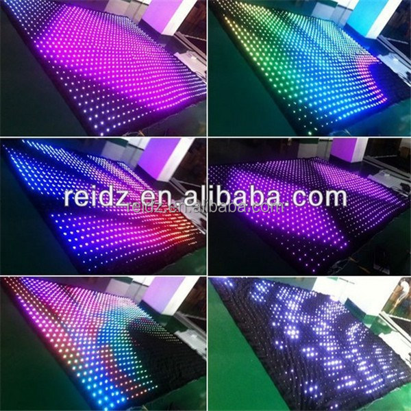 programmable led curtain p40 p50 p100 curtain display