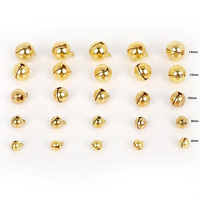 14mm Jingle Bells Gold Color Iron Christmas Decoration DIY Crafts Accessories Bell