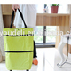 folding fashion supermarket electric shopping trolley