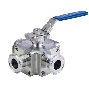 price 4 inch mini ss 8 parts flange fully welded SS304 316L sanitary stainless steel high pressure square three way ball valve