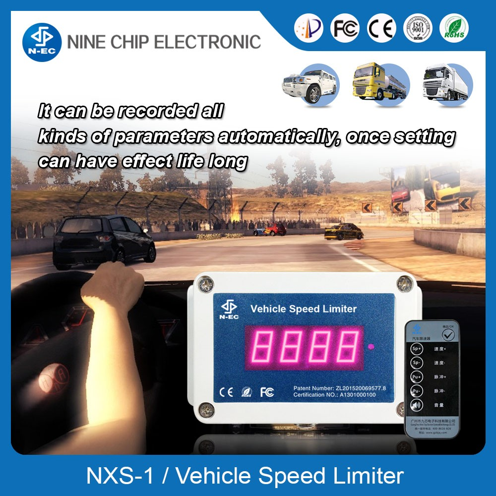Vehicle Installed Digital Measuring Instruments : Vehicle speed measurement electronic limiter
