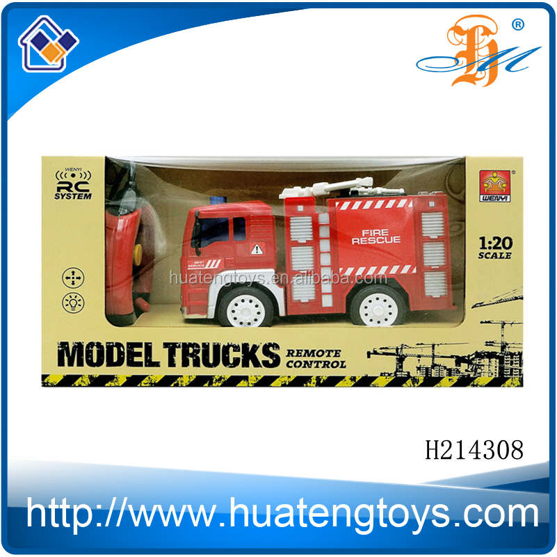 Hot sale 1:16 4CH Remote control car with battery,construction truck toy,kid toy Fire truck with lamp