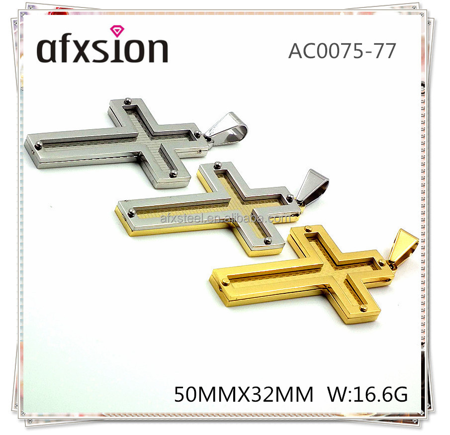 AFSION manufacturer of stainless steel jewelry religion jewelry pendant cross pendant wholesale