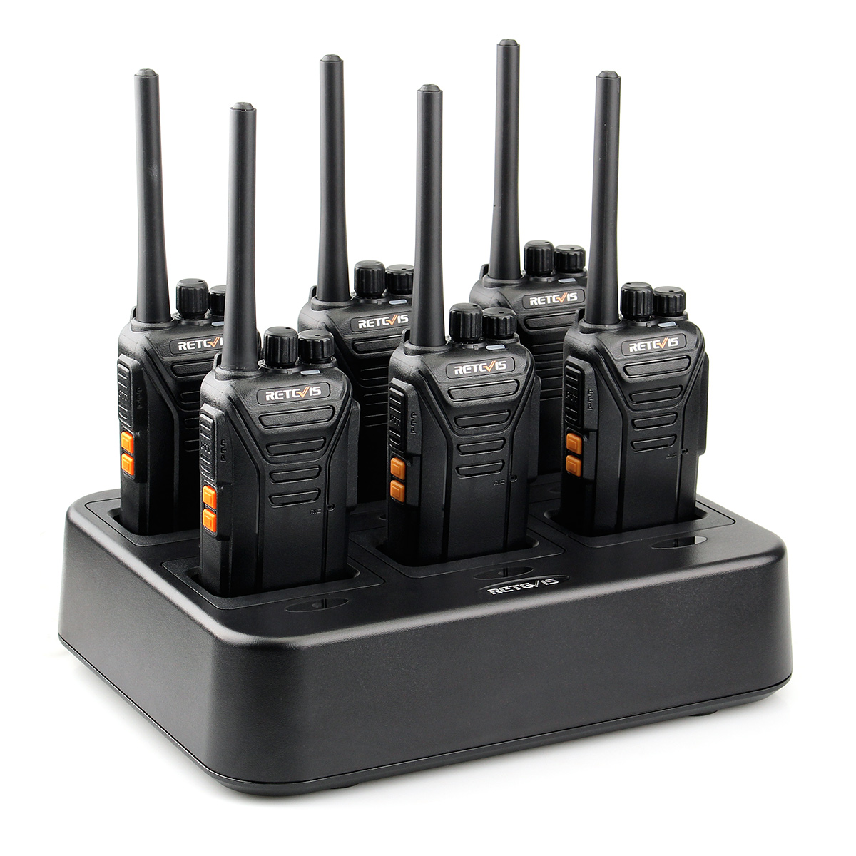 6PACK Retevis RT27 22CH FRS license-free Walkie Talkie UHF VOX Two way Radio For Shopping Mall <strong>Communication</strong> W/ six way charger