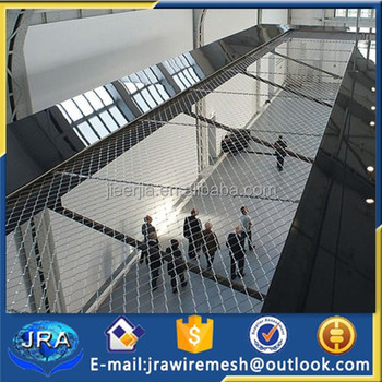 Balustrade Infills And Fall Protection Cable Net/wire Rope Net ...