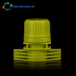 Customized design water-proof spout cap PE spout with cap