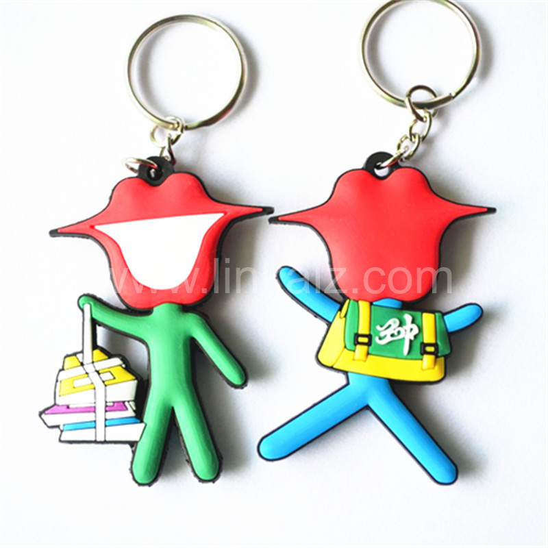 promotion giveaways custom pvc 3D school students keychain rubber