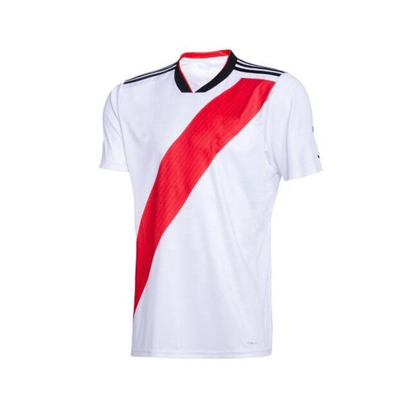 Wholesale Thai Quality River Plate Soccer Jersey Embroidered Team Name and Number, Any color is available