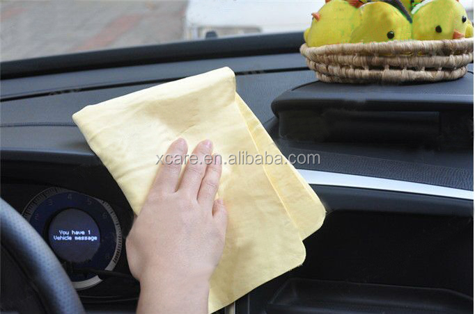 China Wholesale Car Washing Synthetic Chamois Super Water Absorption Towel