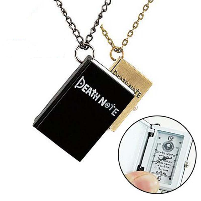 2017 Unieke Death Note Notebook Hanger Ketting Zakhorloge Death Notebook Horloge