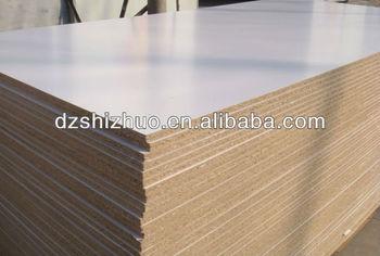White melamine laminated particle board furniture grade for Particle board laminate finish
