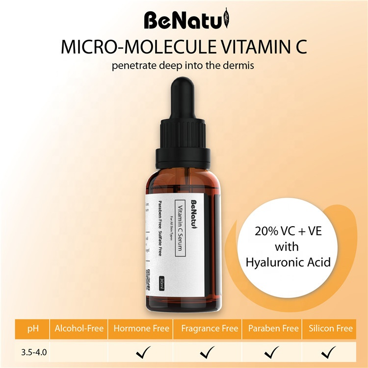 OEM/ODM Wholesale Supplier Pure Vitamin C Serum With Hyaluronic Acid Serum