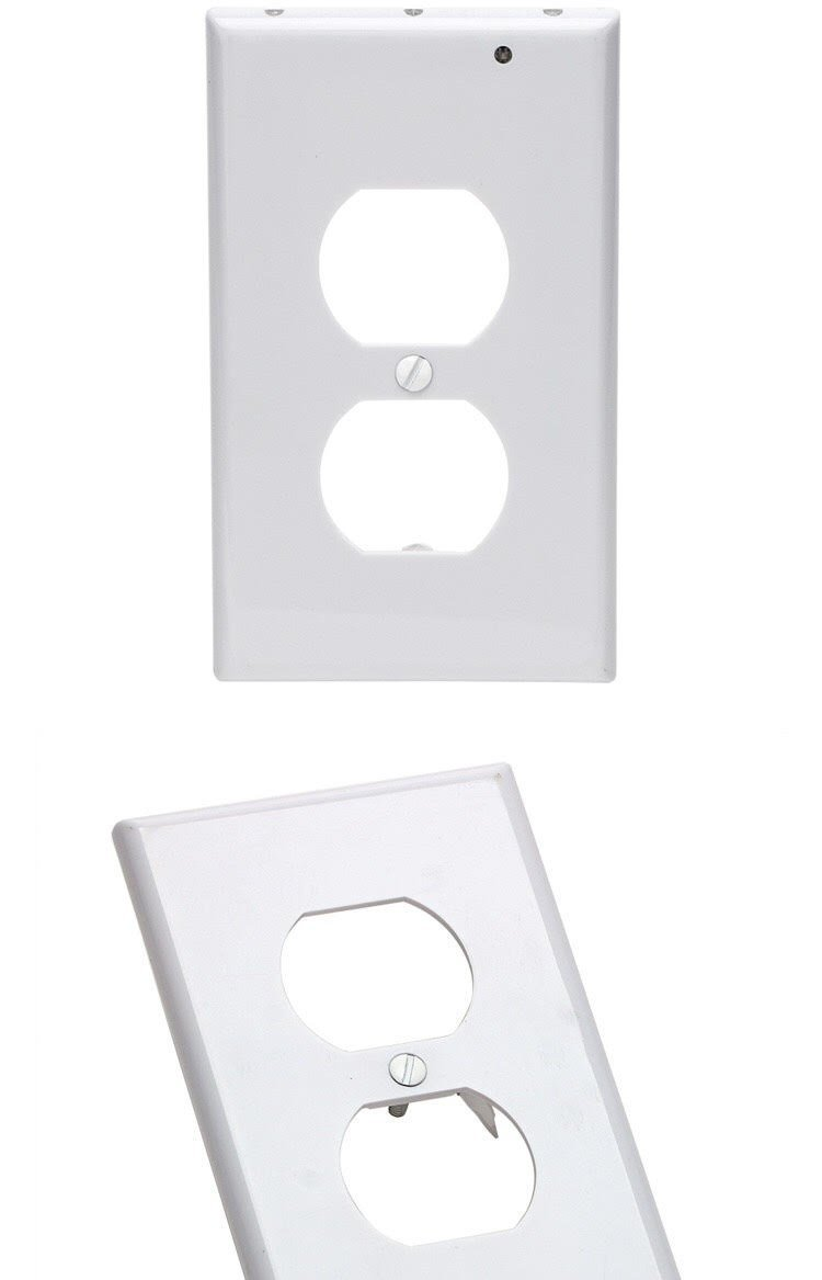 LED Wall Outlet GuideLight - Safety Power Outlet Wall Cover With LED Night Lights, Easy Snap On Outlet Cover Plate