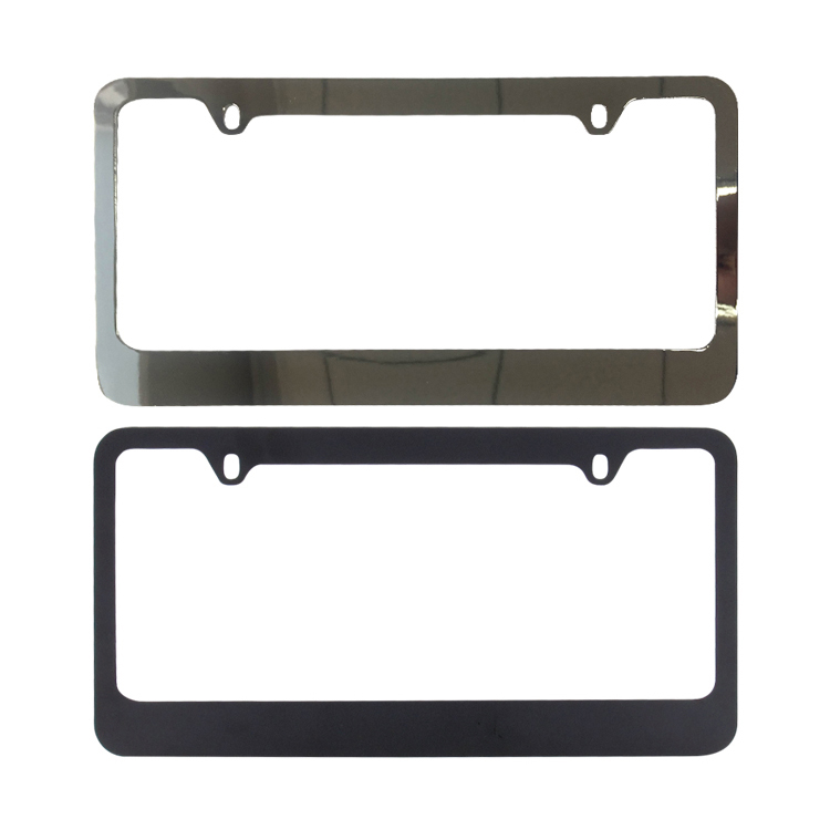 JDI-LFZN2225 zinklegering chrome metal black nummerplaat frame custom
