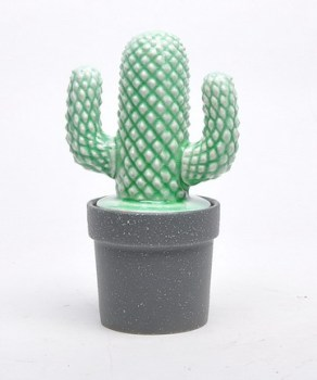 elegant novelty desktop christmas decoration ceramic green cactus modern european home decor