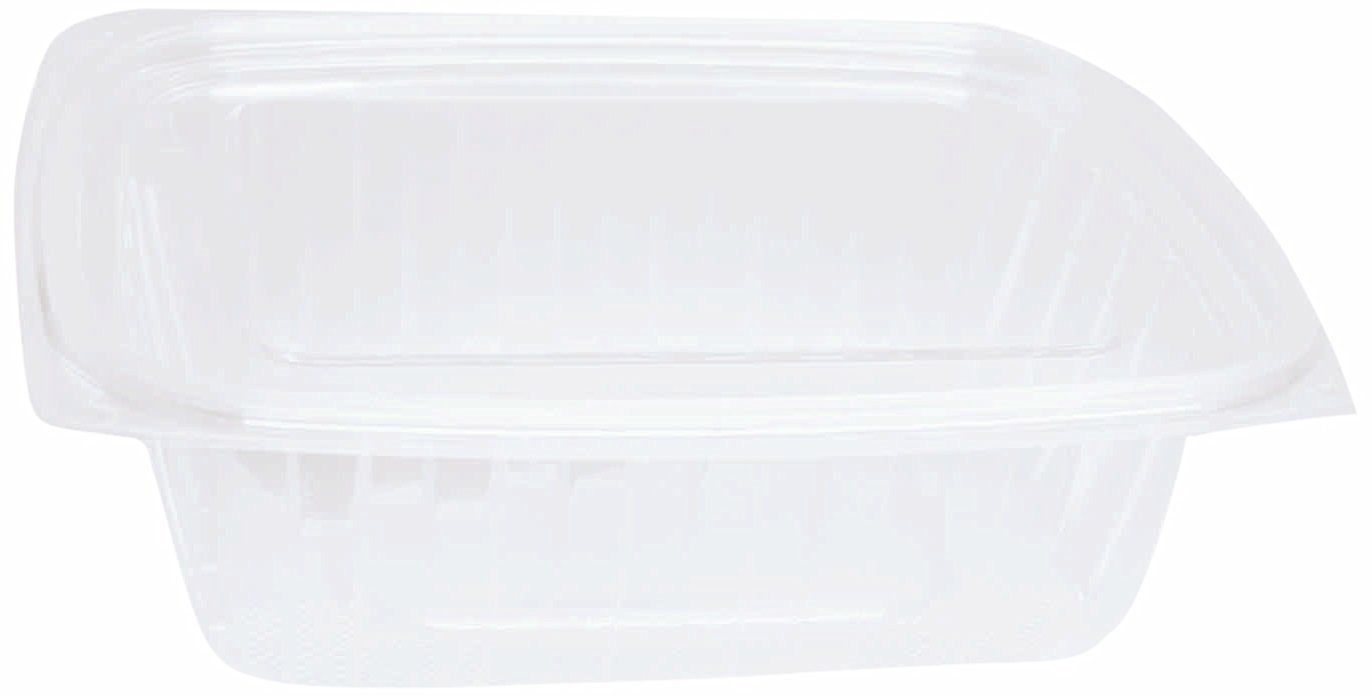"""Choice-Pac L1D-2032 Polyethylene Terephthalate Rectangular 2-Piece Cold Deli Container, 7-5/8"""" Length x 6-1/2"""" Width x 2-1/2"""" Height, Clear, Large, 32-Ounce (Case of 200)"""