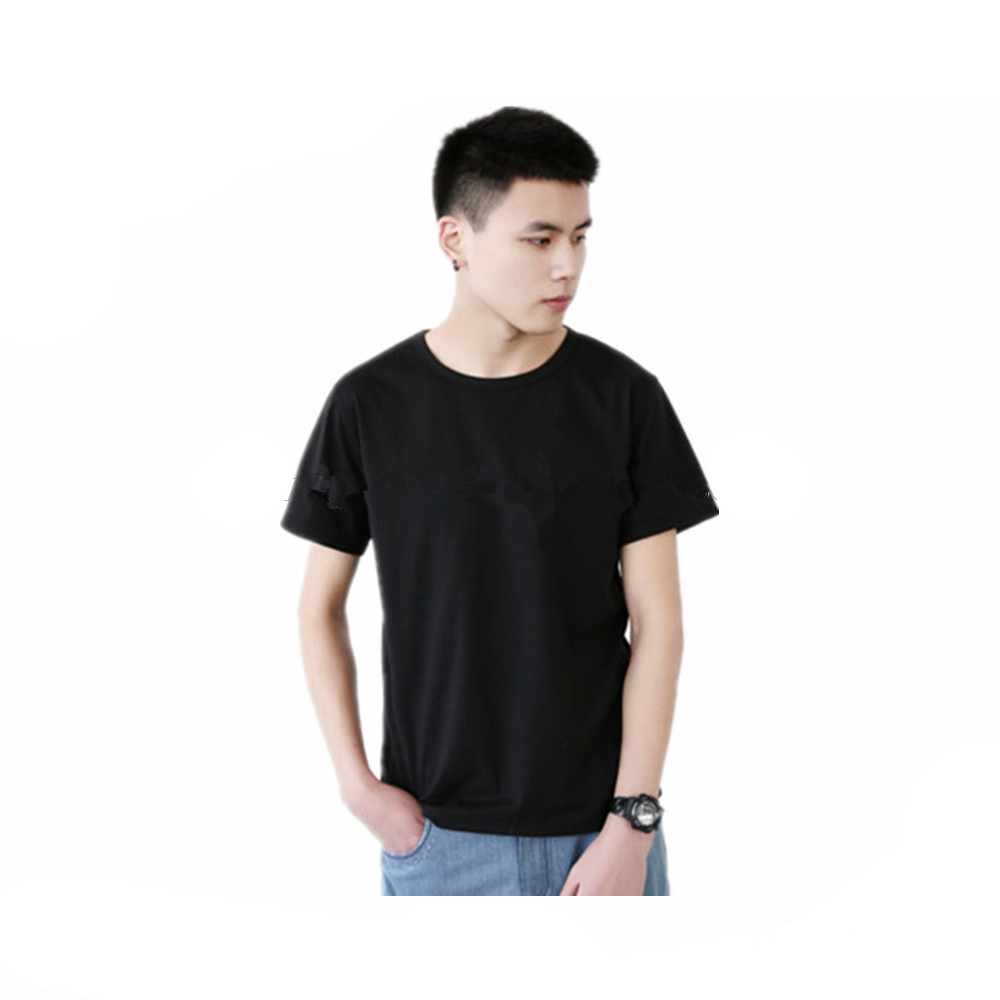 Plain black t shirt quality -  Alibaba China Quality Black Men Clothes T Shirt Plain 95 Cotton 5 Spandex Custom Logo T