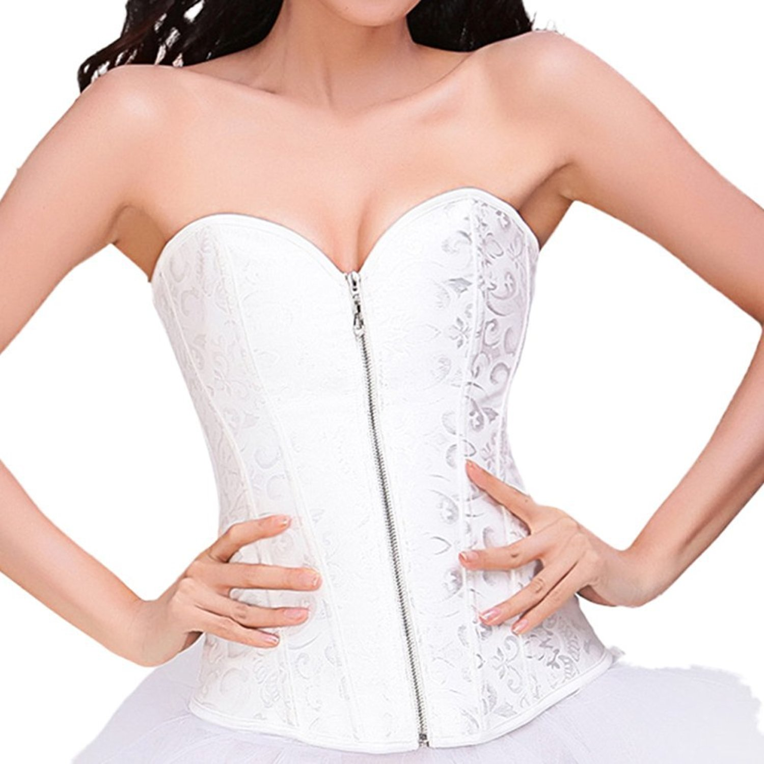 7e6bee7bb Get Quotations · Ya Lida Corset bridal lingerie shapewear abdomen care  thoracolumbar folder