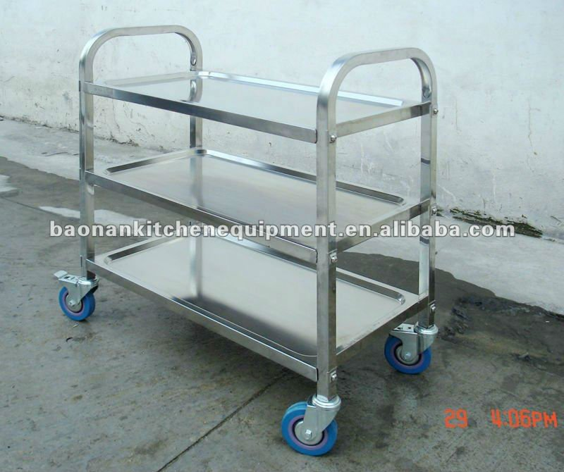 CosBao High Qulity Stainless Steel Food Trolley for Sale
