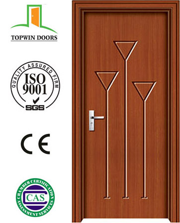 PVC MDF wooden door with popular design in African PVC film +MDF inside