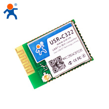 USR-C322 tiny size Industrial Low Power Serial UART to Wifi Module with TI CC3200 Chip