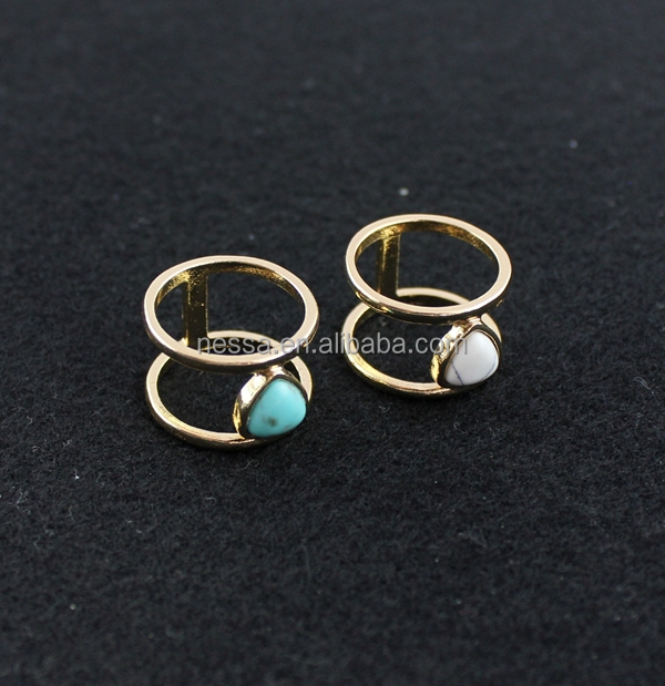 fashion gold one stone ring designs wholesale BJRI-0023