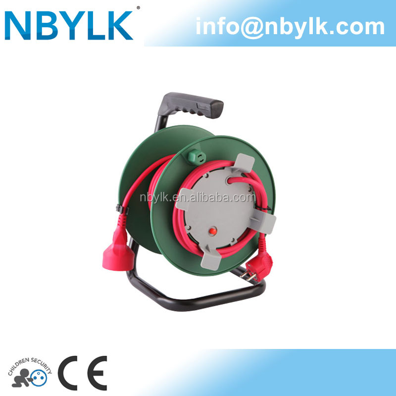 NBYLK garden electric extension cable reel French socket + German/French plug CE approval